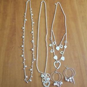 Heart theme 4 piece jewelry set